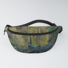 tranquil willow reflection Fanny Pack