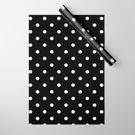 Black & White Polka Dots Wrapping Paper