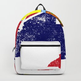 Distressed Saint Helena Ascension and Tristan da Cunha Map Backpack