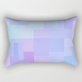 Rainbow Batik Tie dye Pixelart 8bit Mosaic Rectangular Pillow