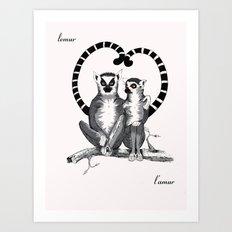 Lemur L'amur Art Print