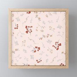 Ditsy Berries Framed Mini Art Print