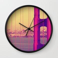 Golden Gate Into San Francisco Wall Clock
