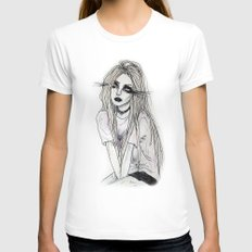 sangre fria Womens Fitted Tee White SMALL