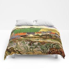 View of Auvers, Vincent van Gogh. Comforters