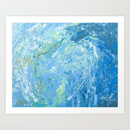 Mary's wave. Art Print