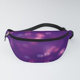 Purple Bubbles Bokeh Fanny Pack
