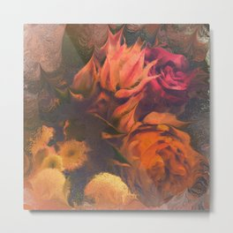 Blushing Brides and Roses Metal Print