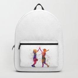 women playing softball 01 Backpack