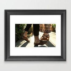 what have i done but wander... Framed Art Print