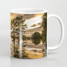 USA Arkansas Delta Mississippi River Arkansas Nature sunrise and sunset Rivers Trees Sunrises and sunsets river Coffee Mug