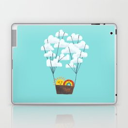 Hot cloud balloon - sun and rainbow Laptop & iPad Skin