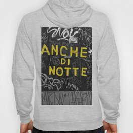 Black and White Yellow Bologna Street Photography Hoody