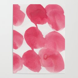 18    | 190408 Red Abstract Watercolour Poster
