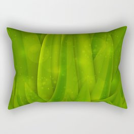 background in pastel colors with green grass and dew Rectangular Pillow
