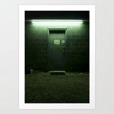 Auto Shop Door, Shrewsbury, WV Art Print
