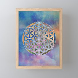 The Flower of Life in the Sky Framed Mini Art Print