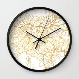 SAO PAULO CITY STREET MAP ART Wall Clock