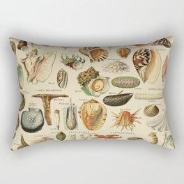 Vintage sealife and seashell illustration Rectangular Pillow
