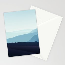 Blue relaxing landscape - mountains - happy days Stationery Cards