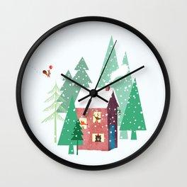 Happy Winter Wall Clock