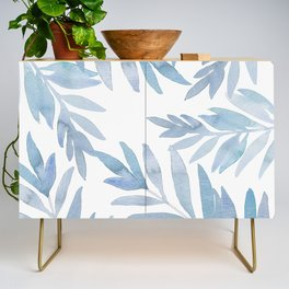 Muted Blue Palm Leaves Credenza
