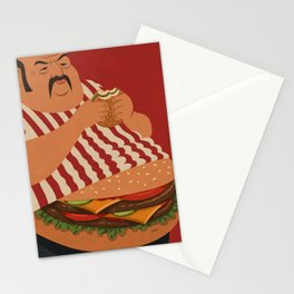 burger man Stationery Cards