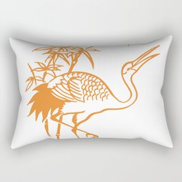 Orange Pelican Rectangular Pillow