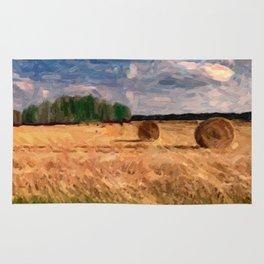 Wheat rolls Rug