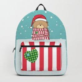 Christmas Teddy bear Backpack