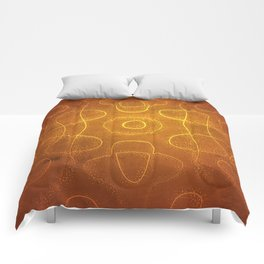 Chladni Pattern - Yellow by Spencer Gee Comforters