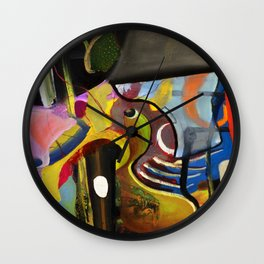 Circus Juice (oil on canvas) Wall Clock
