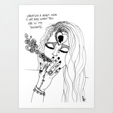 a quiet mind Art Print