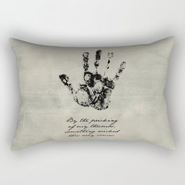 Shakespeare - Macbeth - Something Wicked This Way Comes Rectangular Pillow