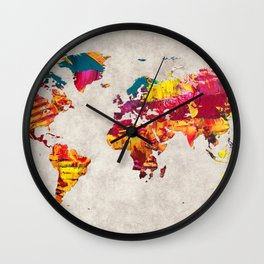 World Map 55 Wall Clock