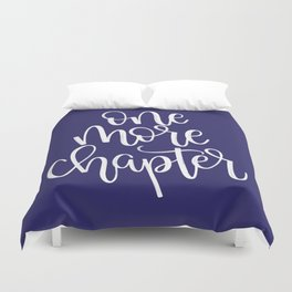 One More Chapter (blue) Duvet Cover