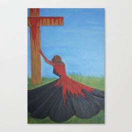 His Daughter in the Red Dress- 1 John 1:7 Canvas Print