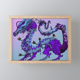 Dark Fantasy Dragon Framed Mini Art Print