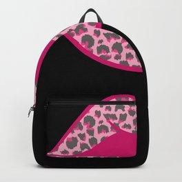 Lips Pink Tiger Skin Print Wild Life Backpack