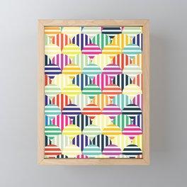 Colorful Circles IV Framed Mini Art Print