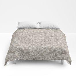 Mandala - Taupe Comforters