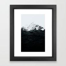 Those waves were like mountains Framed Art Print