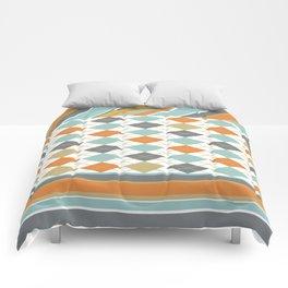 Retro 1980s Argyle and Stripes Geometric Comforters