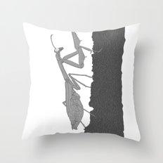 Praying Mantis B/W Throw Pillow