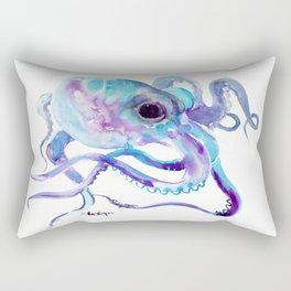 Octopus, Turquoise Blue purple art, Sky blue, Turquoise beach house design Rectangular Pillow