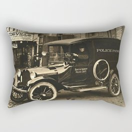 Vintage Police Car Rectangular Pillow