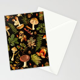 Vintage & Shabby Chic - Autumn Harvest Black Stationery Cards