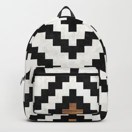 Urban Tribal Pattern No.16 - Aztec - Concrete and Wood Backpack