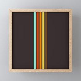 Five Colorful Retro Stripes 19 Framed Mini Art Print