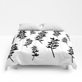 Plant doodles heart Comforters